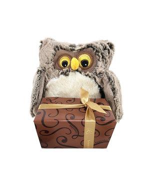 Plush Owl (S) + Autumn Chocolates 375g