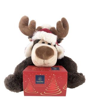 Plush reindeer (20cm) with 250g Celebration balls