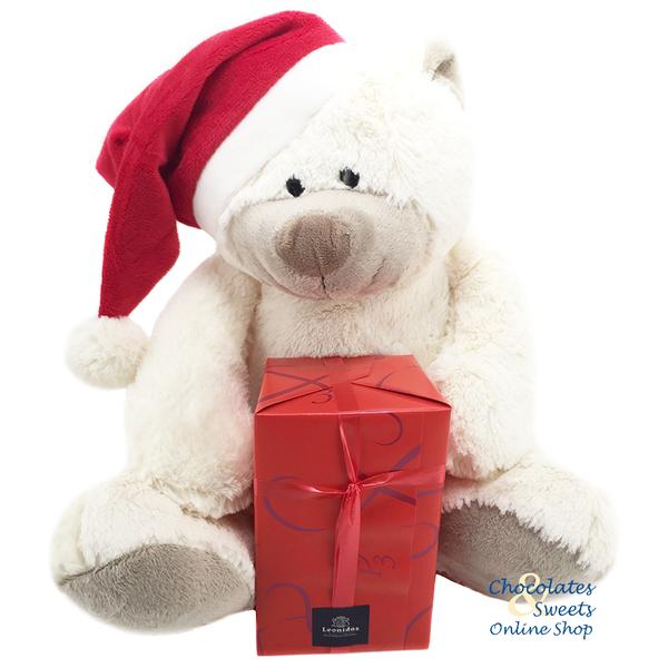 Weihnachtsbär (30cm) mit 500g Festkügeln
