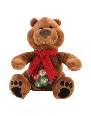 Ours en peluche Leo (23cm) avec 300g Boules de fête