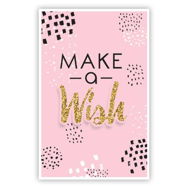 Grußkarte 'Make a Wish'