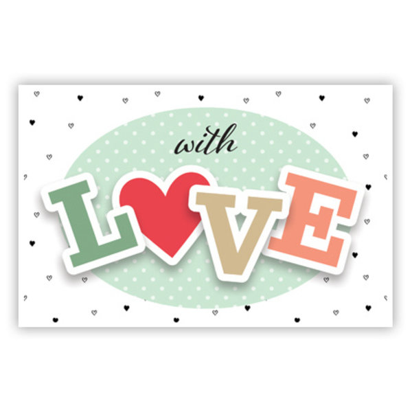 Grußkarte 'With LOVE'