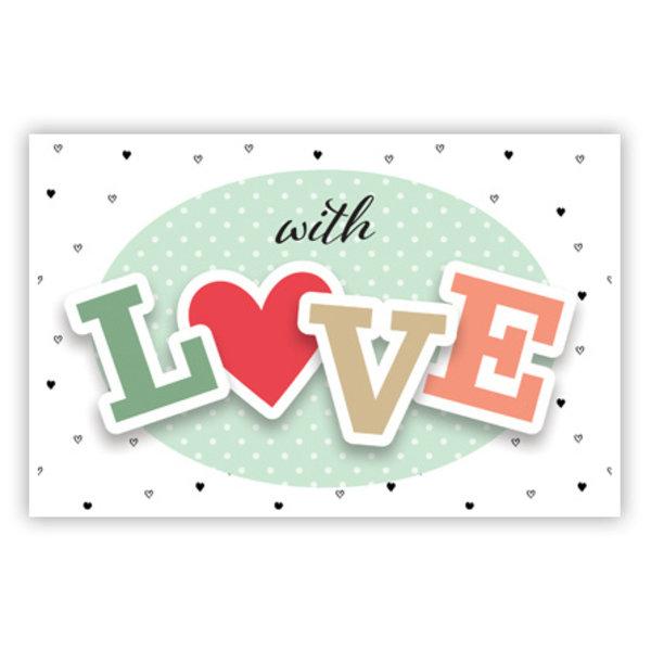 Wenskaart 'With LOVE'