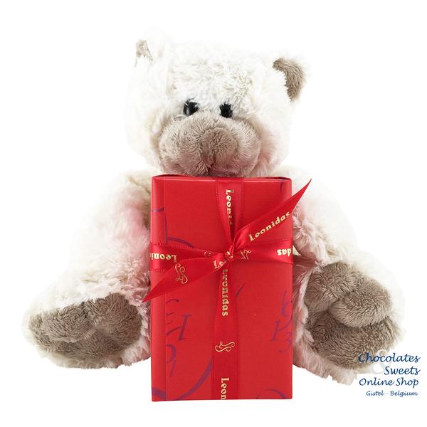 Leonidas 300g chocolates and Teddy bear Snoozy (20cm)