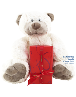 Leonidas 500g chocolates and Teddy bear Snoozy (30cm)