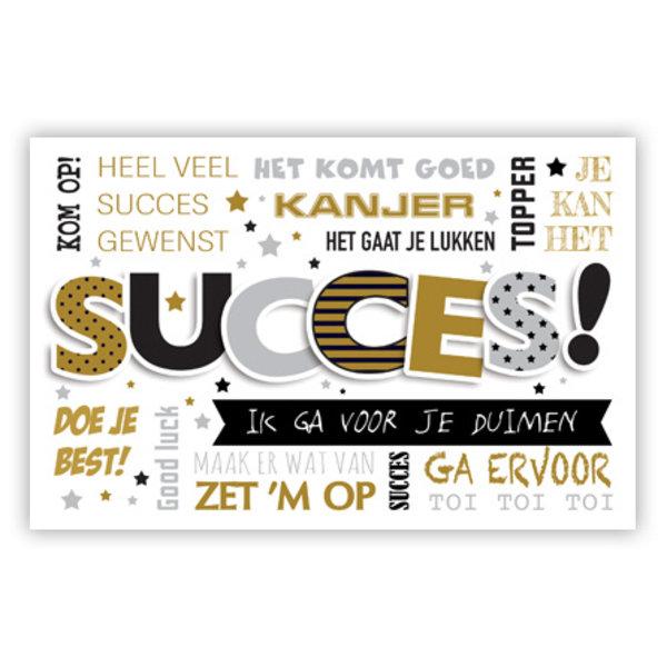 Wenskaart 'Succes'
