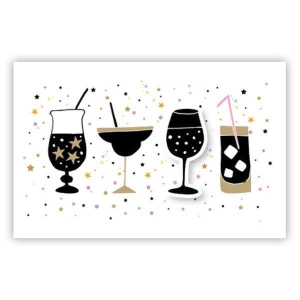 Grußkarte 'Cocktails'