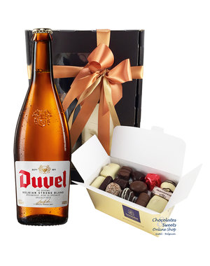 500g Chocolates and bottle of Duvel 75cl
