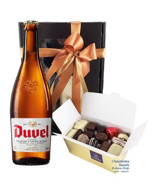 500g Chocolats et bouteille de Duvel 75cl
