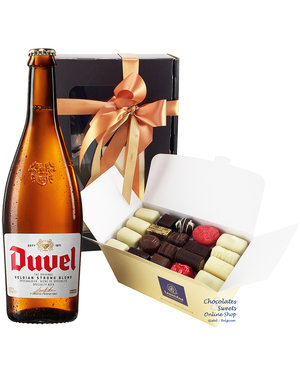 1kg Chocolates and bottle of Duvel 75cl