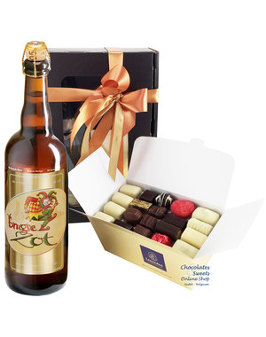 1kg Chocolates and bottle of Brugse Zot 75cl