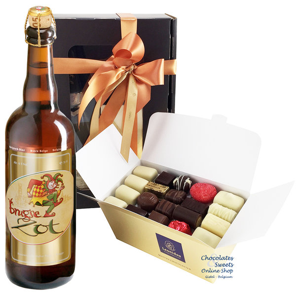 1kg chocolats Leonidas et une bouteille de Brugse Zot 75cl