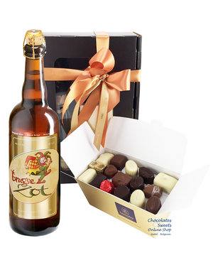 750g Chocolates and bottle of Brugse Zot 75cl