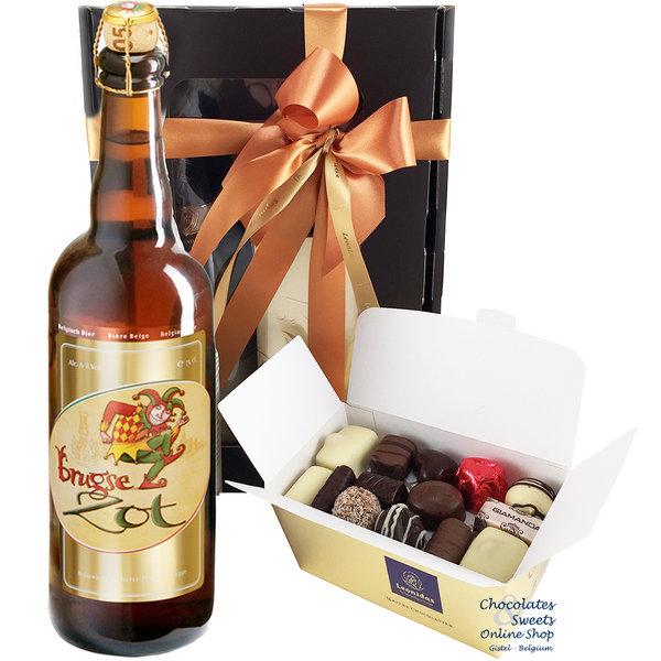 500g chocolats Leonidas et une bouteille de Brugse Zot 75cl