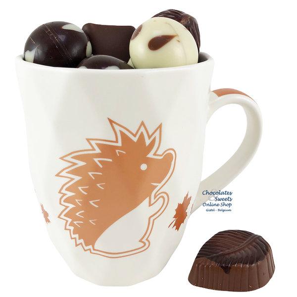 Mug 'Hedgehog' Autumn chocolates 250g