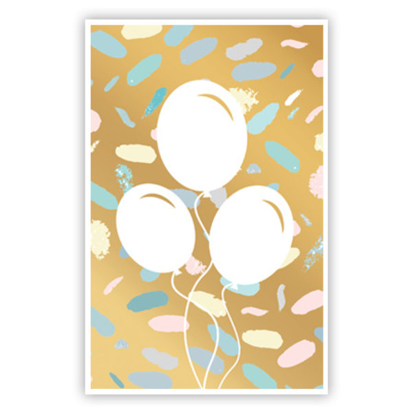 Wenskaart 'Ballonnen'