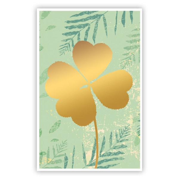 Grußkarte 'Vierblättriges Kleeblatt'