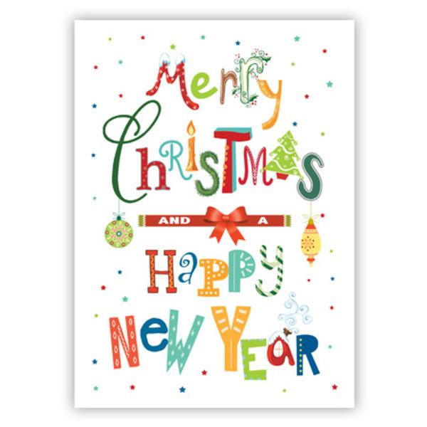 Grußkarte 'Merry Christmas & Happy New Year'