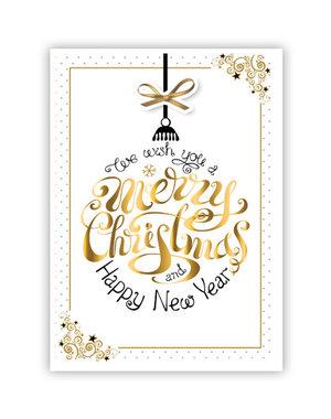 Merry Christmas & Happy New Year (11,5x16,5cm)