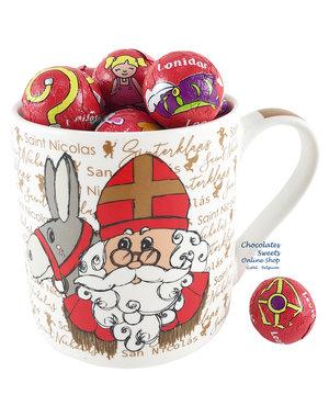 Mug Saint Nicholas - 250g Chocolate balls