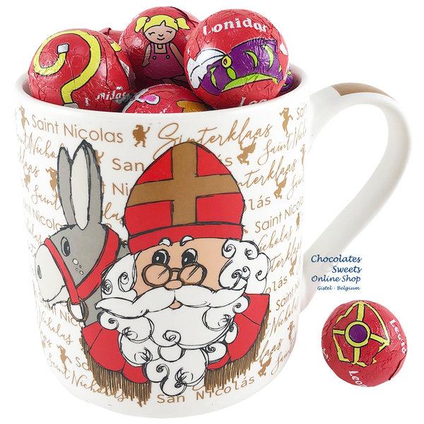 Tasse Sankt Nikolaus - 250g Schokokugeln