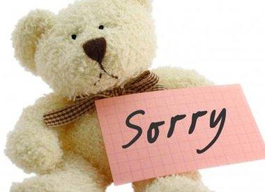 Rubriek: Sorry