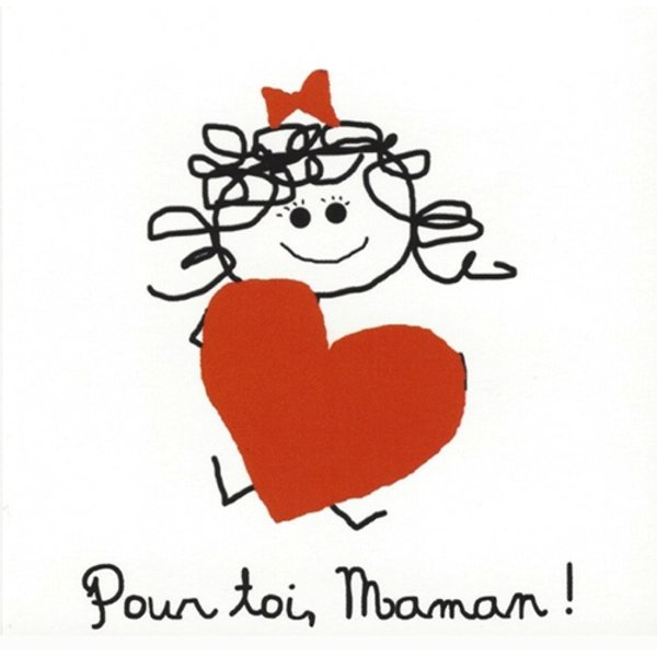 Wenskaart 'Pour toi, Maman'