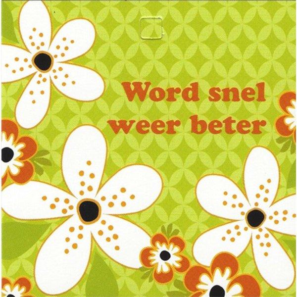 Carte de voeux 'Word snel weer beter'