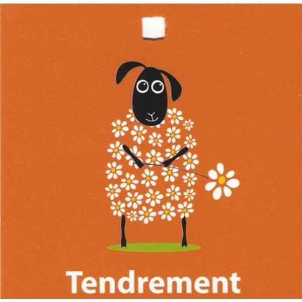 Carte de voeux 'Tendrement'