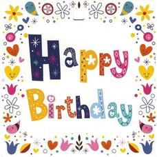 Happy Birthday (7x7cm)