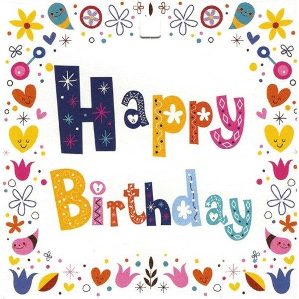 Grußkarte 'Happy Birthday'
