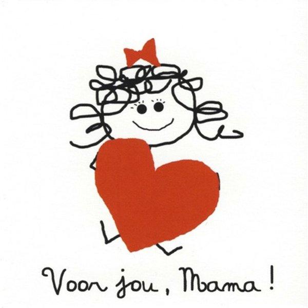 Greeting Card 'Voor jou, Mama'