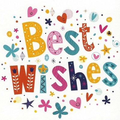 Carte de voeux 'Best Wishes'