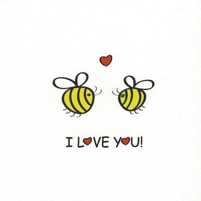 Carte de voeux 'I love You'