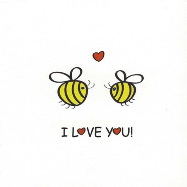 Wenskaart 'I love You'