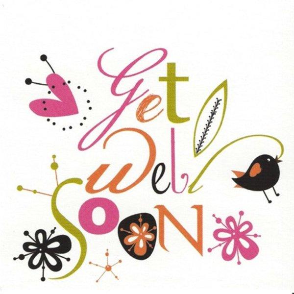 Wenskaart 'Get well soon'