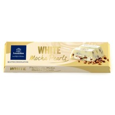 Leonidas Bar White - Mocha Pearls 50g