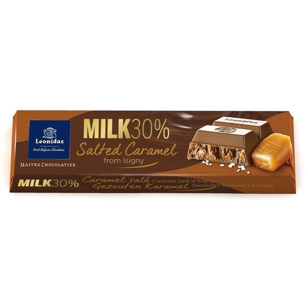 Leonidas Bar Milk Chocolate 30% Salted Caramel From Isigny 50g