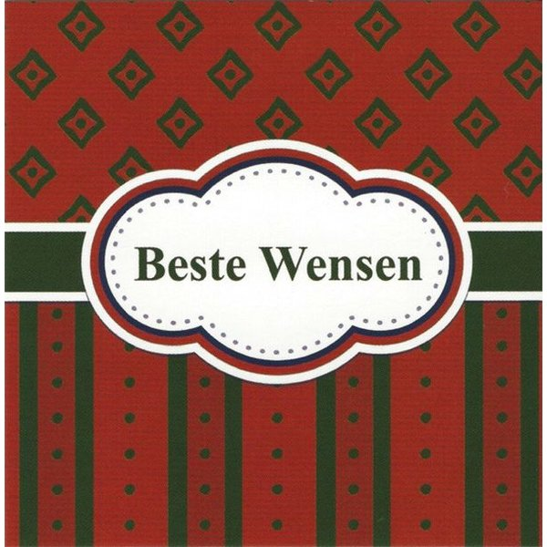 Carte de voeux 'Beste wensen'