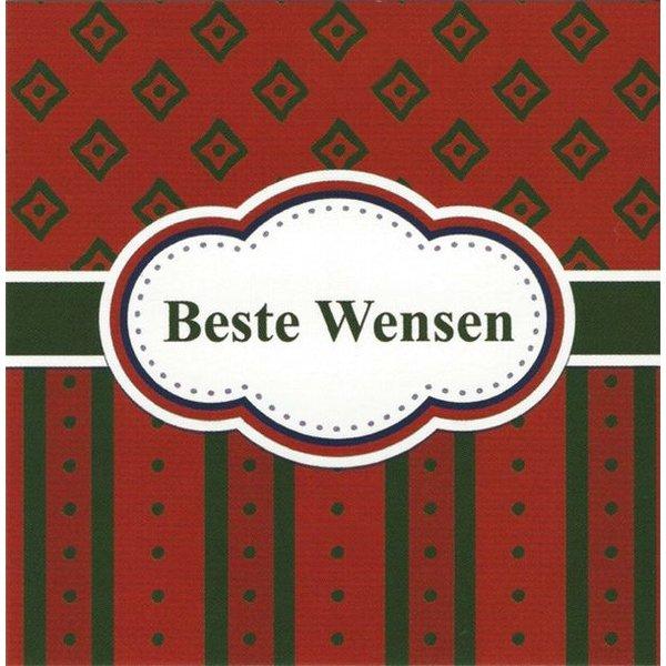 Greeting Card 'Beste wensen'