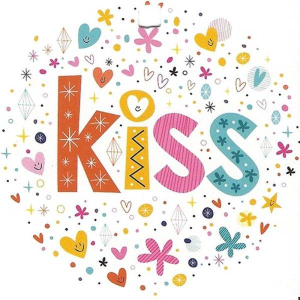 Wenskaart 'Kiss'