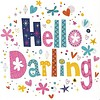 Carte de voeux 'Hello Darling'