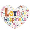 Carte de voeux 'Love and Happiness'