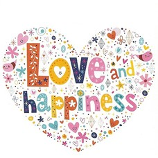 Love and Happiness (7x7cm)