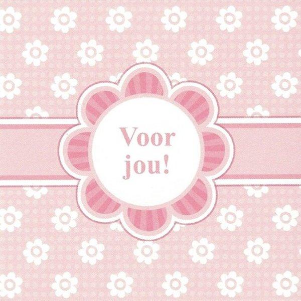 Grußkarte 'Voor jou!'