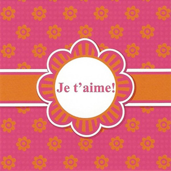 Carte de voeux 'Je t'aime!'