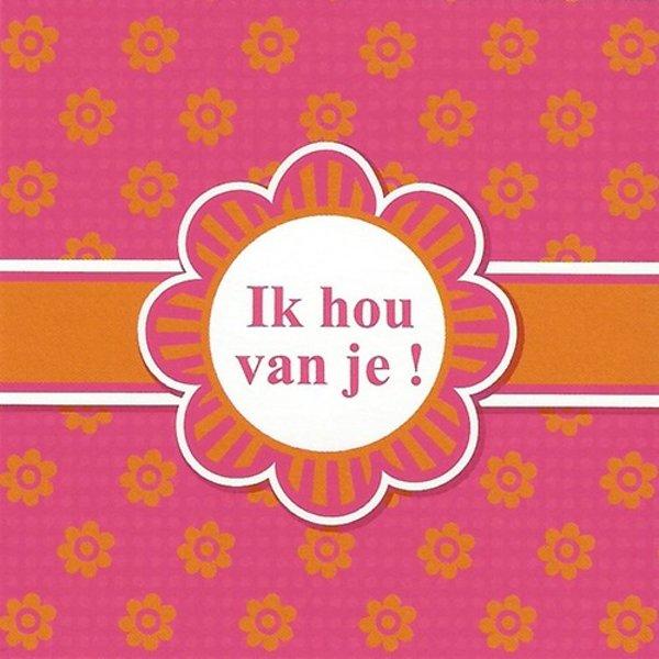 Carte de voeux 'Ik hou van je!'
