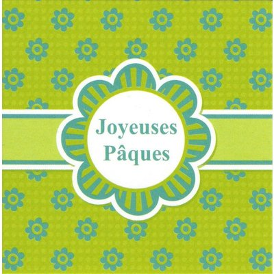 Wenskaart 'Joyeuses Pâques'