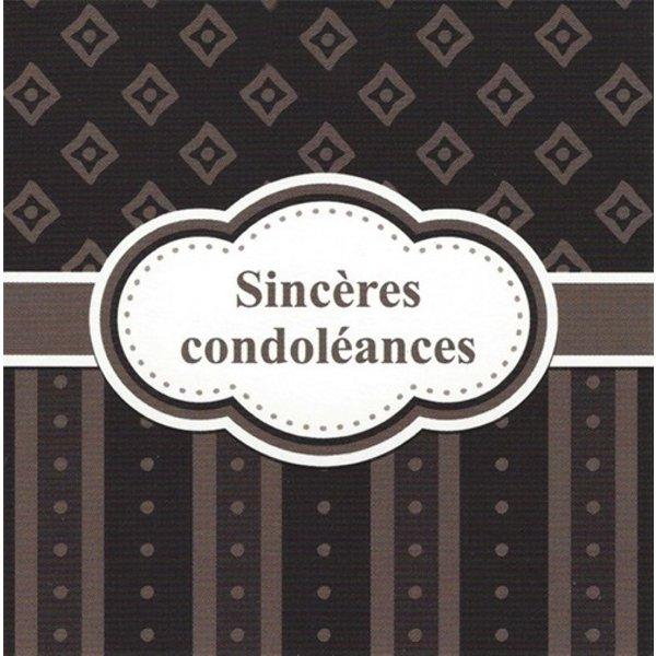 Wenskaart 'Sincères condoléances'