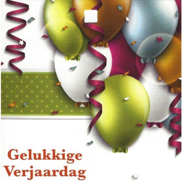 Grußkarte 'Gelukkige verjaardag'